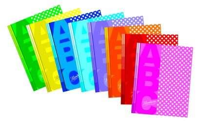 Cuaderno Rivadavia ABC 19 x 23 Tapa Carton Lunares Rosa x 50 Hjs. Rayado Cod.  369061