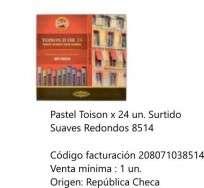 Pastel Toison Dor Soft. Redondo x 24 Unid. Cod. 208071038514