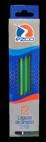 Lapiz Grafito Ezco Cuerpo Madera Casquillado Nro. 2 HB x 12 Unid. Cod. 171956