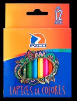 Lapices De Colores Ezco Cuerpo Madera x 12 Cortos Cod. 171960