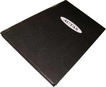 Libro Actas Corona 2 Manos Tapa Negra Bulto x 20 Unid. Cod. ACTAS2M/B