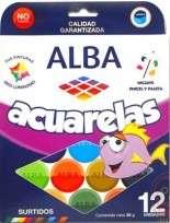 Acuarela Alba x 12 Colores Cod. 8735-999-680