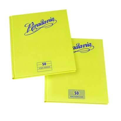 Cuaderno Rivadavia 16 x 21 Tapa Carton Tradicional x  50 Hjs. Cuadriculado Cod. 353120