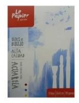 Block Le Papier Aquarell 25 x 35 Emblocado 280 Grs. x 10 Hjs. Cod. 1741000212535