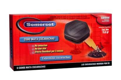 Cebo Somerset Mata Cucarachas 6 Grs. x 6 Unid. Cod. Sgc Cbo 6