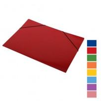 Carpeta Avios Prespkraft 3 Solapas Con Elastico Oficio Plastificada  Rojo Cod.671R