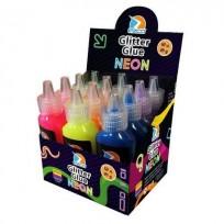 Adhesivo Ezco Glitter Neon 21 Grs Surtido X 12 Unid. Cod. 407007N