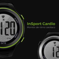 Reloj Instto Heart Rate  Insport Cardio Negro Y Gris Cod. Sw-In-B01B00