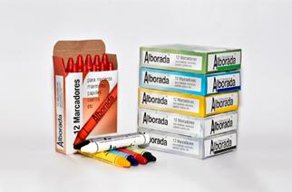 Crayon Alborada Industrial Redondo Maxi Color Blanco Caja x 12 Unid. Cod. Mcr/Blanco