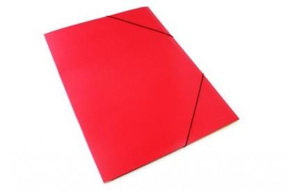 Carpeta Osi-Pel Presphan 3 Solapas Con Elastico Oficio Plastificada Rojo. Cod. 303/R