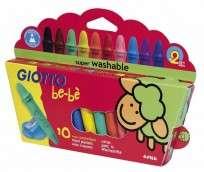 Crayon Giotto Bebe x 10 Unid. + Sacapuntas Cod. 466800Es