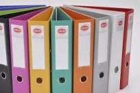 Bibliorato Util Of Forrado Plastico Con Gancho Para Ensamblar Oficio Amarillo Lomo 75 Mm. Cod. Pd2825
