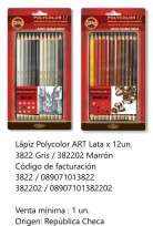 Lapices De Colores Koh-I-Noor Polycolor Art x 12 Largos Grey En Lata Cod. 089071013822
