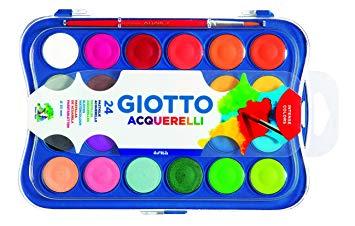 Acuarela Giotto x 24 colores Bandeja + pincel Cod.352400