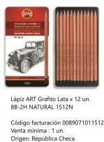 Lapiz Grafito Koh-I-Noor Art 8B-2H x 12 Unid. En Lata Cod. 089071011512