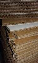 Carton Doble Corrugado Kraft Hl Placa 70X100 Cm (1 Cara Blanca /1 Marron) Paq. X 5 Unid. Cod. Mic101