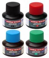 Tinta Edding Para Marcador Para Pizarra B T K25 (Por Capilaridad) X 25 Ml.  Rojo Cod.1129002