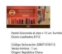 Pastel Koh-I-Noor Gioconda Duro Cuadrado x 12 Unid. Cod. 208071018112