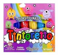 Plastilina Tintoreto x 6 Barras Surtida De 20 Grs. Cod. 600040