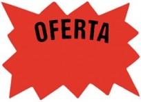 Cartel Para Precios CA Oferta .Cartulina Fondo Blanco, Dibujo Rojo, Letra Negra Medidas 5 Cm. X 7 Cm. Pack X 50 Unid. Cod. Ech-02