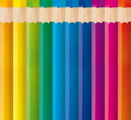 Lapices De Colores x 6 Cortos 1/4 Bulto x 240 Unid. Cod. LC6C/B
