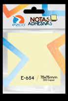 Notas Autoadhesivas Ezco   75 X 75 Mm X 100 Hojas - Amarillo Cod. 980654