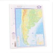 Mapa Mundo Cartografico Nro. 3 Rep.Argentina Bicontinental Fisico-Politico Bolsa X 40 Unid. Cod. C-011-Fpb