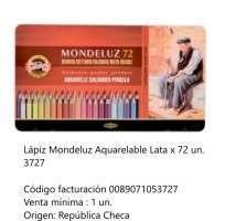 Lapices De Colores Koh-I-Noor Mondeluz x 72 Largos Acuarelables En Lata Cod. 089071053727