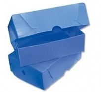 Caja Archivo Plastica Legajo Extra 38 x 28 x 12 Cms. Azul Tapa Volcada Sin Impresion Bulto x 25 Unid. Cod. 1817/A/B