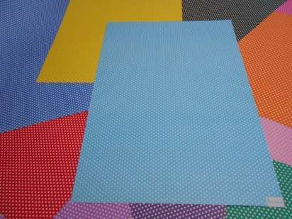 Cartulina Decorada Pinguino 50 X 70 120 Grs. Paq. X 10 Unid. Pintita Azul/Amarillo Cod. 210330