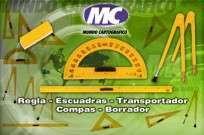 Escuadra  90 G. Mundo Cartografico De Alto Impacto Para Pizarron Hip.62 Cm  60 Cms X 17 Cms Cod. T-003