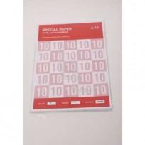 Etiqueta S. Paper Inkjet/Laser Ilustracion A4 - Hoja Entera 75 Grs. x 100 Hjs. Cod.SP.I. E.A. x 100