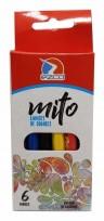 Lapices De Colores Ezco Mito Cuerpo Plastico Hexagonal X 6 Corto Cod. 172101