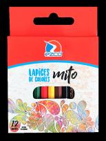 Lapices De Colores Ezco Mito Cuerpo Plastico Hexagonal X 12 Corto Cod. 172102