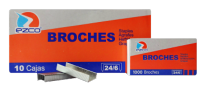 Broche Ezco Para Abrochadora 24/6 x 1000  x 10 Unid. Cod. 304002