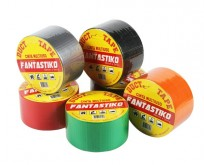 Cinta Adhesiva De Tela Laminada con Polipropileno Fantastiko  48 Mm. x 9 Mts.  x 18 Unid. Colores Surtidos. Cod. 716-21