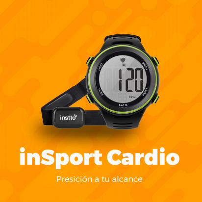 Reloj Instto Heart Rate  Insport Cardio Negro Cod. Sw-In-B01Blk
