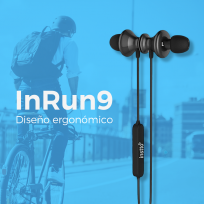 Auriculares Instto Inrun9 Bluetooth Negro Cod. Ar-In-Bt34Bl