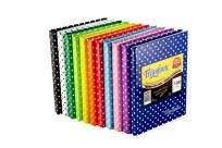 Cuaderno Triunfante 16 x 21 Tapa Carton Lunares Rojo x  50 Hjs. Rayado - 90 G/M2 Cod. 465123
