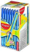 Boligrafo Maped Essentials Green Ice Azul x 50 Unid. Cod. 224430Ne