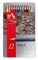 Lapices De Colores Caran Dache Pablo Colection x  12 Largos En Lata 666-312 Cod. 08902509312