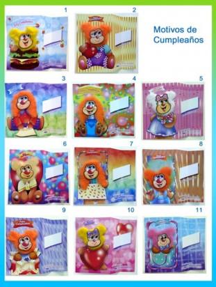 Tarjetas De Felicitaciones Grandes Peluche 14 x 20  x 50 Unid.Surtidas. Cod. TGP1420