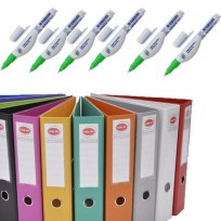 10 Biblioratos Util Of Forrado Plastico A4 Lomo 75 Mm.+ 12 Lapiz Corrector Liquid Paper 7 ml + Regalo  1 Boligrafo Paper Mate Kilometrico 100 Retractil x24 Unid.Surtidos. Cod. Promo2