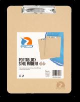 Portaplanilla Ezco A4 Simil Madera Cod. 305250-A4
