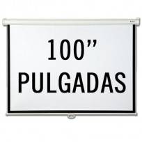 "Pantalla Loach Manual De Pared 100"" Blanco Mate Cod. Pn-Lo-Ms1000"