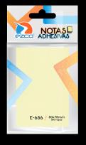 Notas Autoadhesivas Ezco   50 X 75 Mm X 100 Hojas - Amarillo Cod. 980656