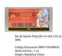 Lapiz Koh-Polycolor Set 32 Piezas Cod. 08907104389632