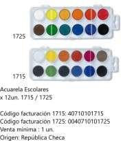 Acuarela Koh-I-Noor Escolar x 12 Pastillas Cod. 40710101715