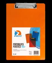 Portaplanilla Ezco A5 Esquela Plastico Translucido Azul/Rojo/Naranja Cod. 305200-A5