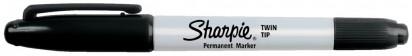 Marcador Permanente Sharpie Twin Tip Negro Cod. 1805635